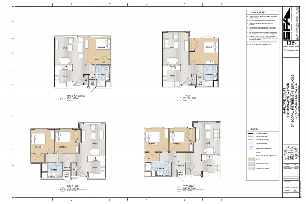 Marlowe Court Apartment Plans